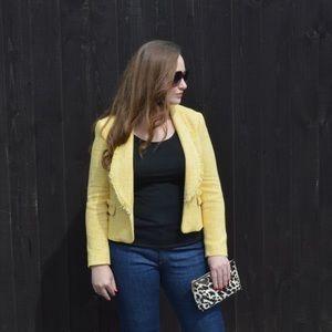 ⭐️HOST PICK⭐️Zara Yellow Tweed Blazer